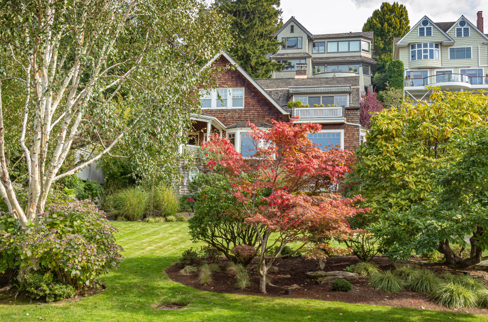 Seattle homes, beautiful yard