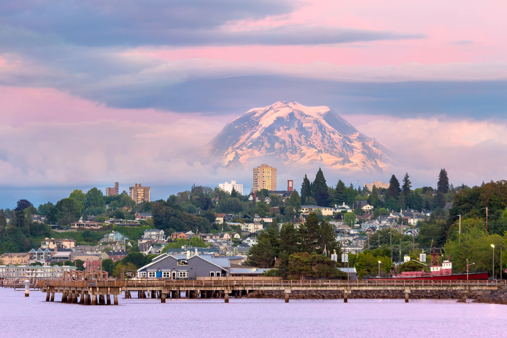 Tacoma Washington waterfront, Mount Rainier